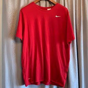 Nike Dri-Fit Tee Athletic Cut Red Size 3XL VGUC